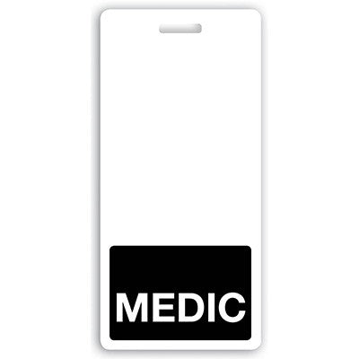 "Vertical ""MEDIC"" Badge Buddies, Black (2 1/8"" X4 1/2"")"
