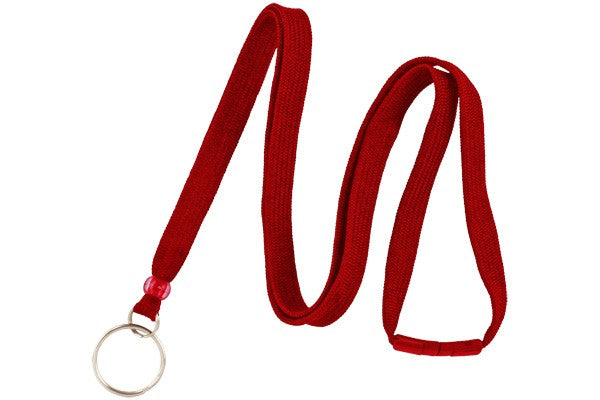 "Red 3/8"" Breakaway Lanyard with Split Ring"