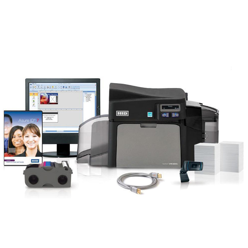 Fargo DTC4250e Single Sided ID Card Printer System
