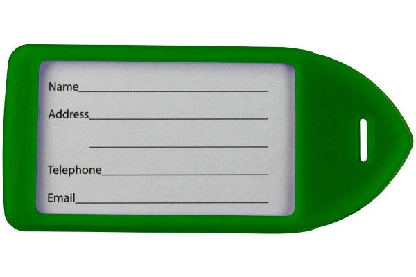 Neon Green Rigid Plastic Luggage Tag Holder LT-11-GRN