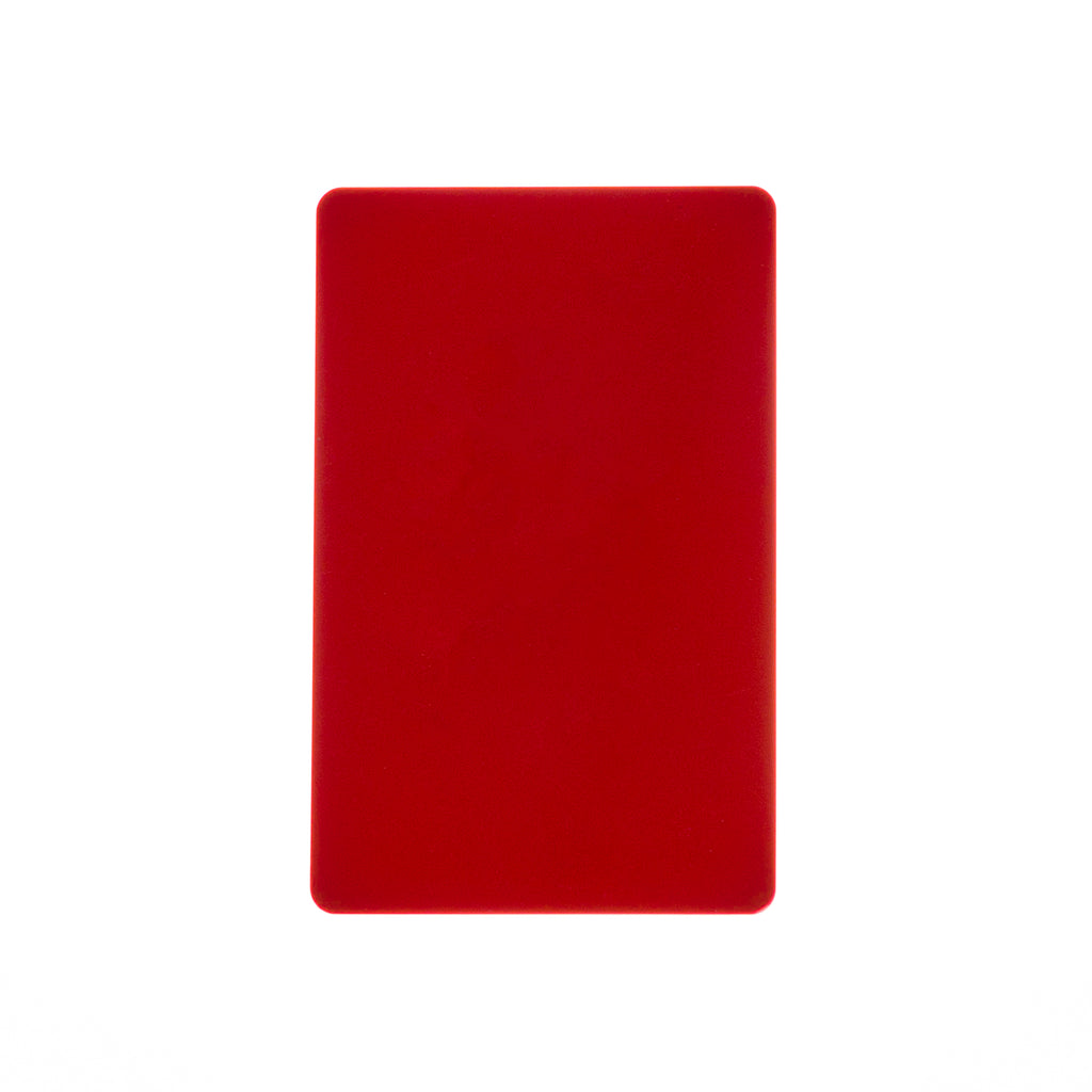 CR80/30 Red-Colour PVC Cards