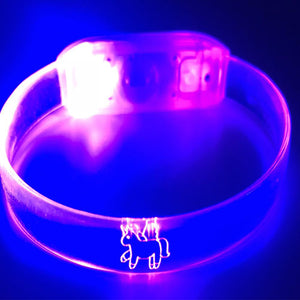 Glow in the Dark Unicorn Bracelets, Green, Purple and Orange