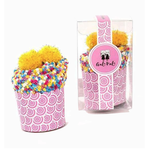 Fuzzy, Slipper Socks for Girls in Cupcake Packaging