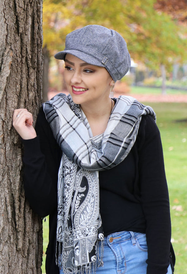 Baker Street Tweed Newsboy Cap for Women