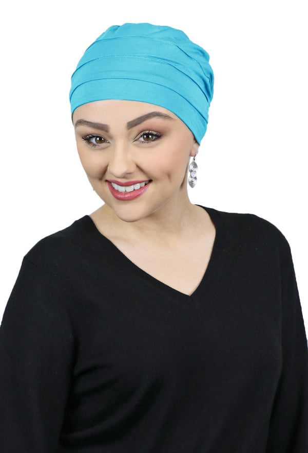 Bamboo 3 Seam Turban Chemo Cap & Sleep Cap For Cancer Headwear