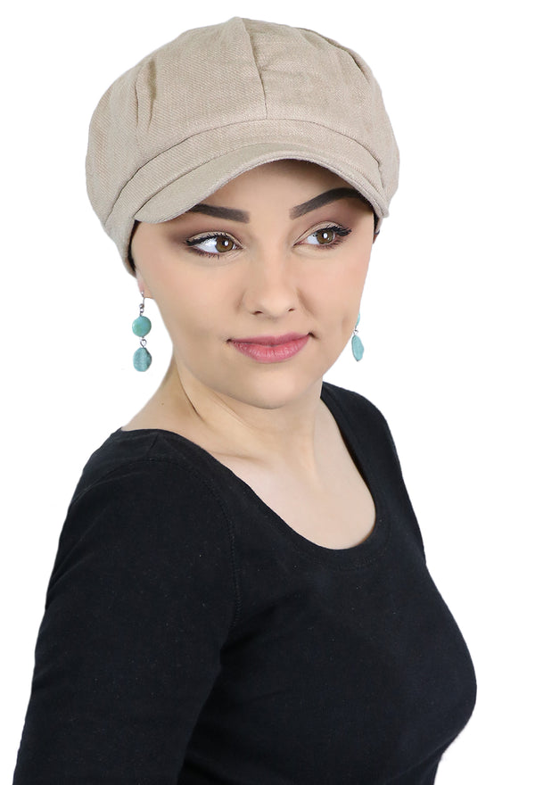 Belfast Linen Newsboy Cap For Women
