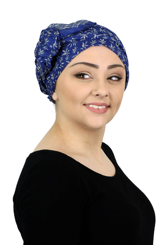 Caracia Cotton Head Scarves Lightweight Summer Head Wraps Chemo Headwear for Women Luciana