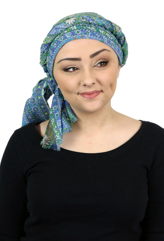 Caracia Cotton Head Scarves Lightweight Summer Head Wraps Chemo Headwear for Women Marabella