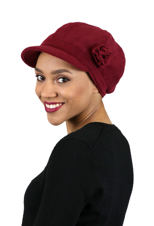 Brighton Luxury Fleece Newsboy Cabbie Hat for Women
