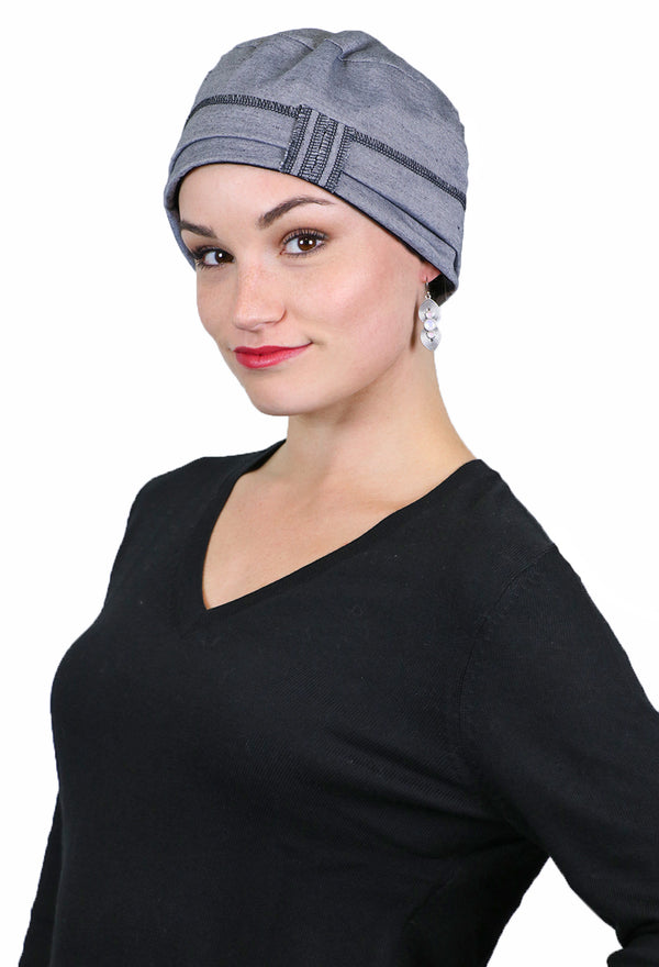 Cape Cod COTTON Cloche Hat for Women With Small Heads