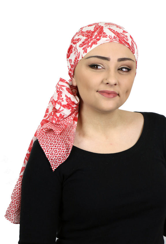 Caracia Cotton Head Scarves Lightweight Summer Head Wraps Chemo Headwear for Women Aloha