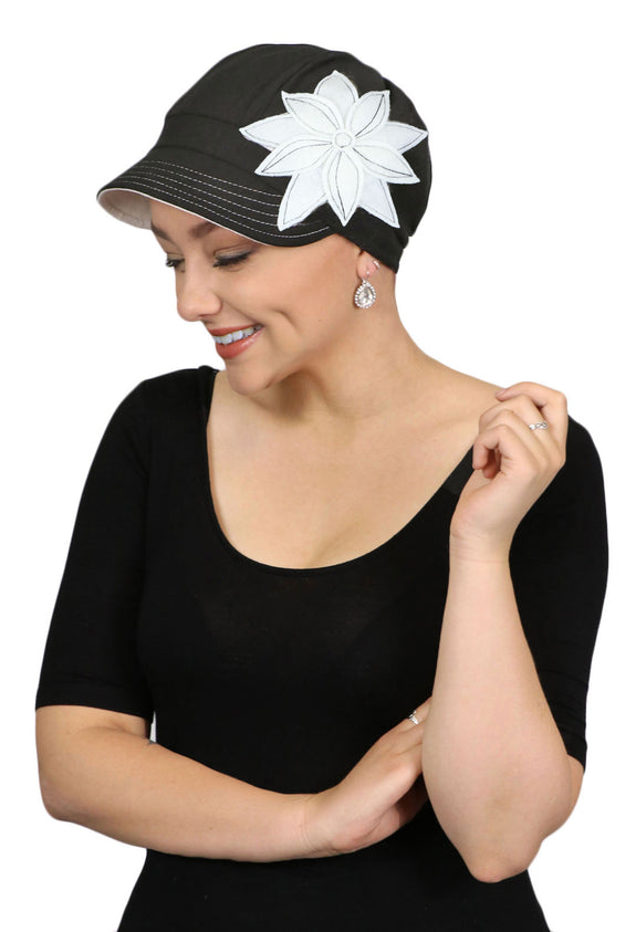 Whimsy Cotton Chemo Hat for Women Casablanca