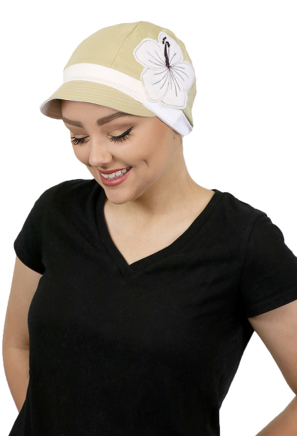 Whimsy Soft Cotton Chemo Cap for Women Cream Puff