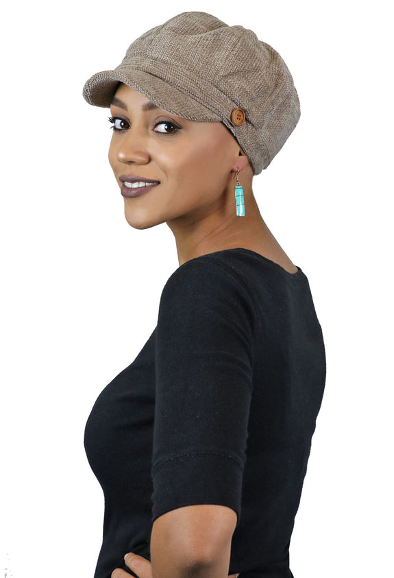 Dublin Chenille Newsboy Cabbie Cap for Women