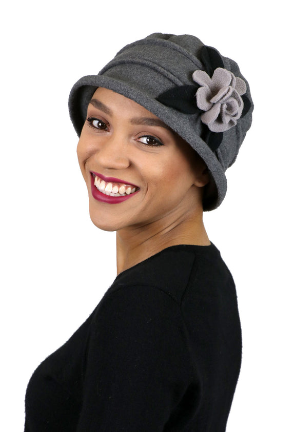 Lizzy Luxury Fleece Cloche Hat for Women Contrast Colors