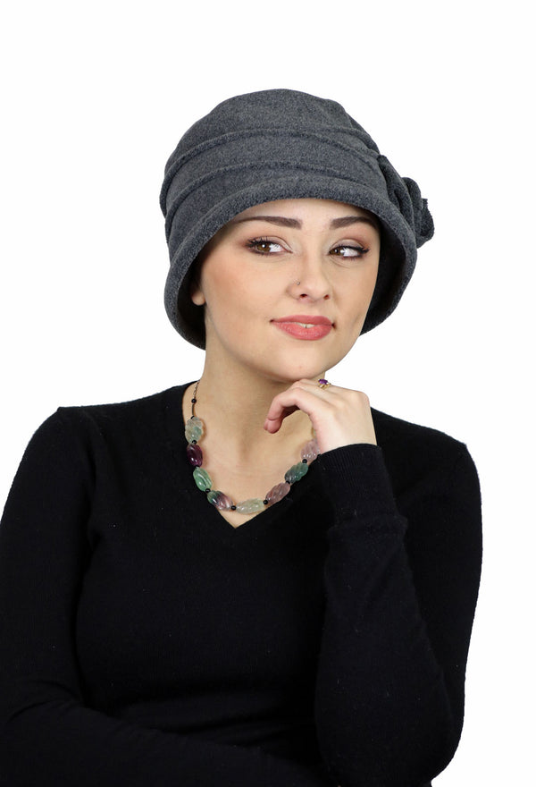 Ingrid Luxury Fleece Cloche Hat For Women With Medium to Large Heads