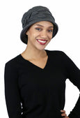 Lady Rose Fleece Cloche Hat For Women