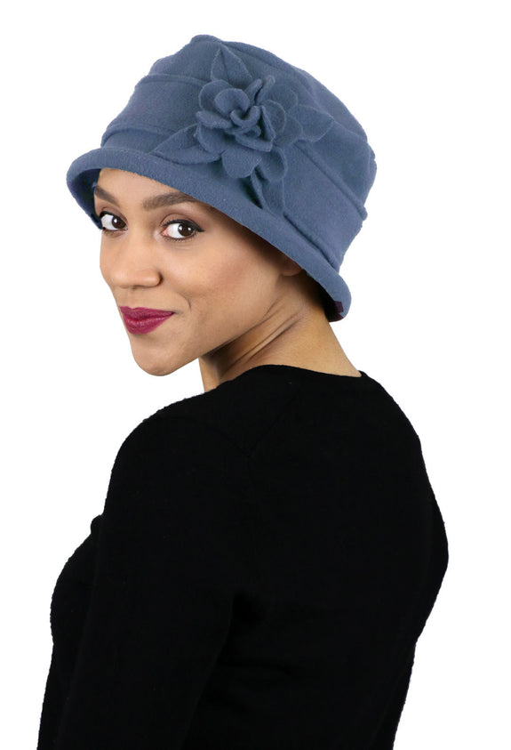 Lizzy Luxury Fleece Cloche Hat for Women with Medium to Large Heads