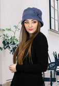 Lizzy Luxury Fleece Cloche Hat for Women (Single Layer Fleece)