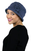Emma Luxury Fleece Cloche Hat for Women Double Layer Fleece