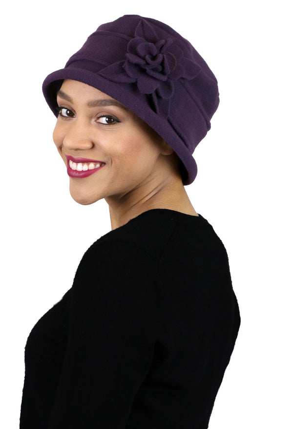 Lizzy Luxury Fleece Cloche Hat for Women Solid Colors