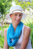 Lovely in Lace Summer Hat For Women in Small or Medium Head Sizes