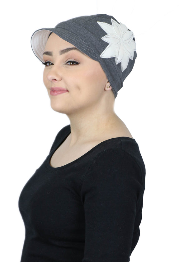 Whimsy Cotton Chemo Hat for Women Misty Moonlight