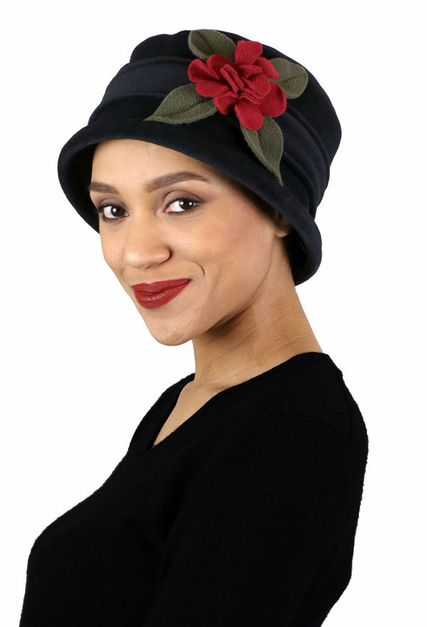 Olivia Luxury Fleece Cloche Hat For Women Double Layer Fleece