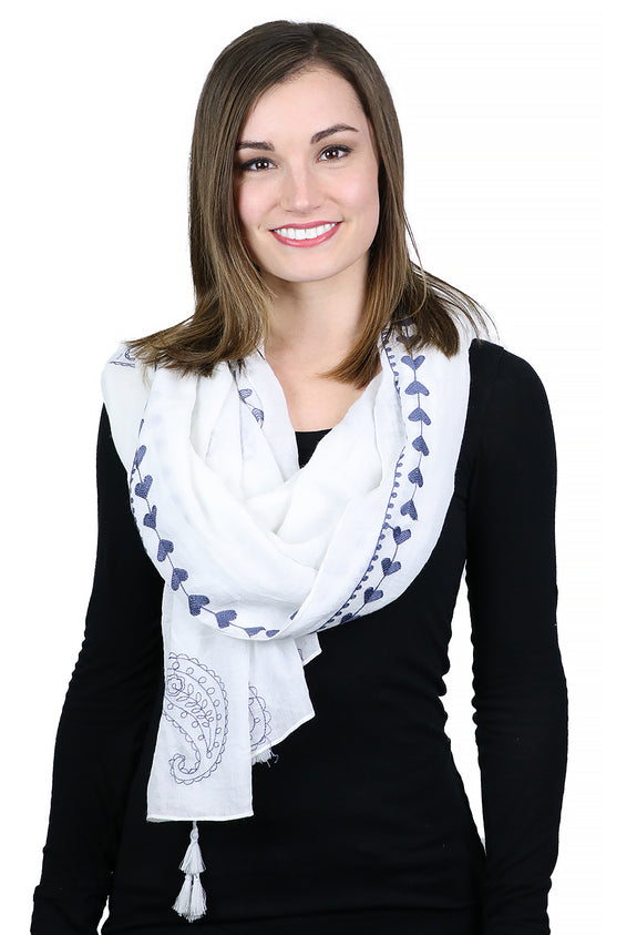 Peace, Love & Paisley Neck Scarf