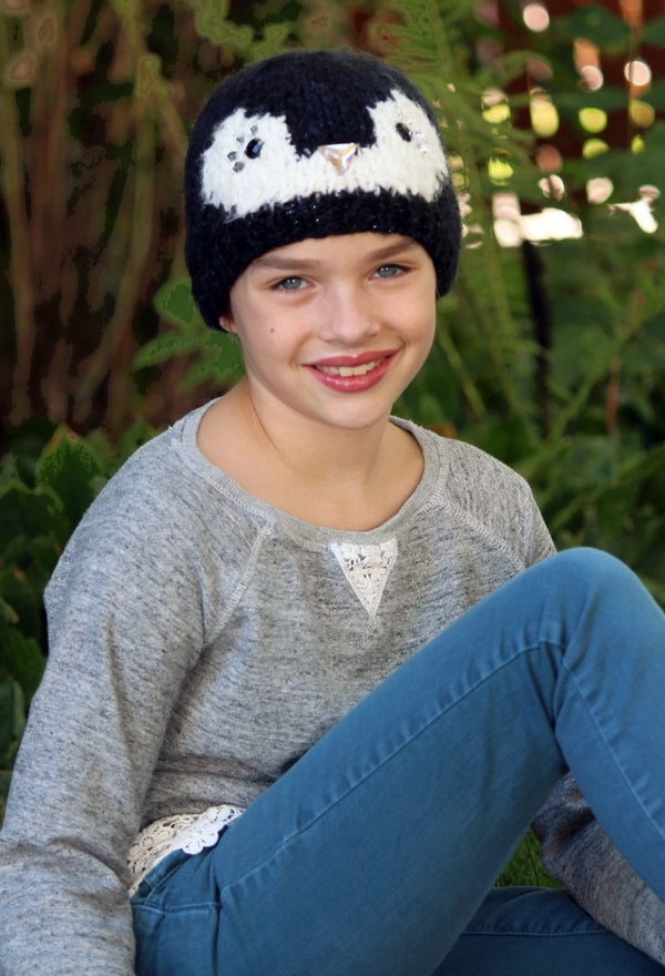 Comfy Critters Penelope Penguin Jeweled Beanie
