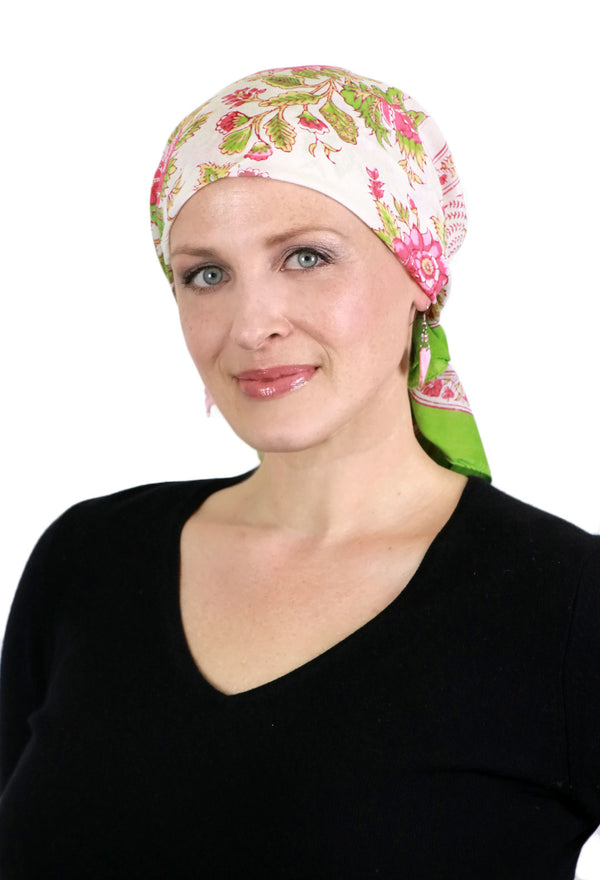 Aravalli Cancer Headwear Cotton Head Scarf Rosehip