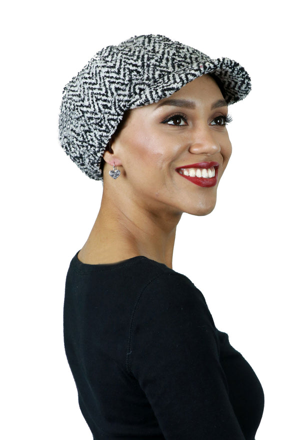 Roxbury Marled Tweed Newsboy Cap for Women