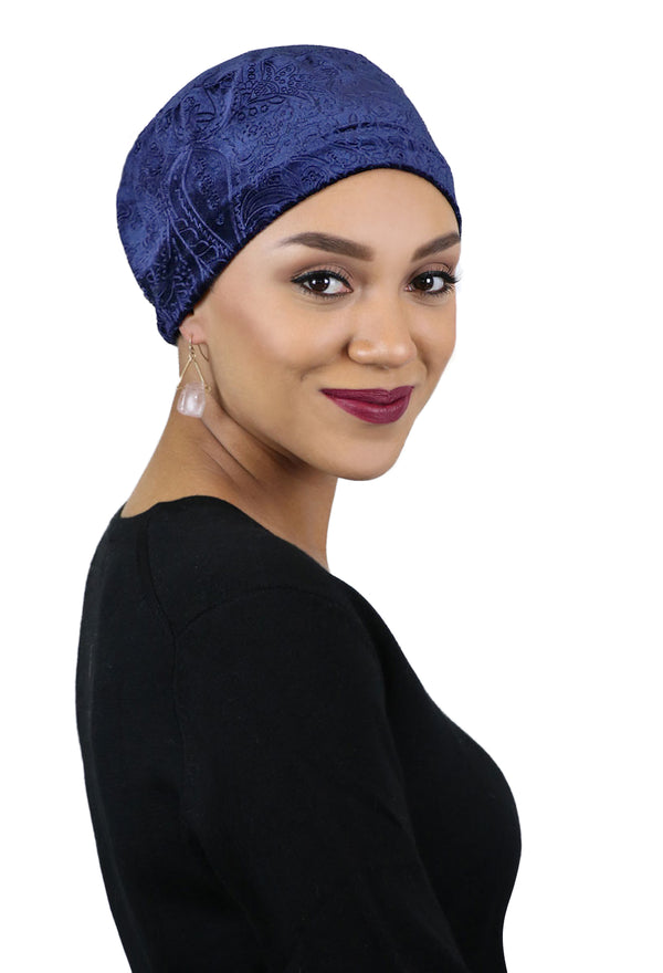 Vivien Velvet Brocade Turban Cancer Headwear For Women