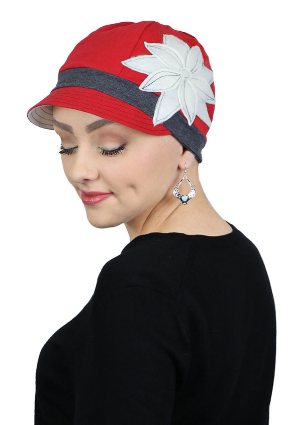 Whimsy Cotton Chemo Cap Red Hot Chili Pepper