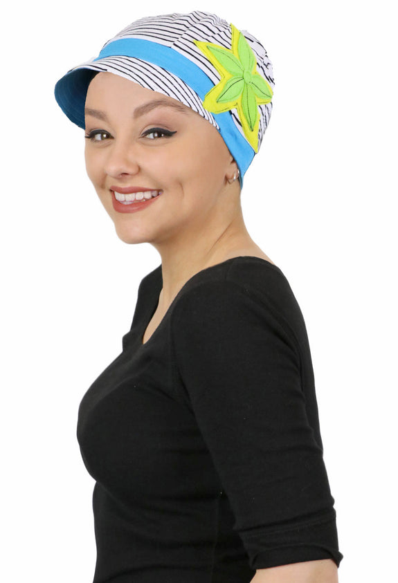 Whimsy Cotton Chemo Cap for Women Margarita