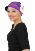 Whimsy Soft Cotton Chemo Cap for Women Sugarplum