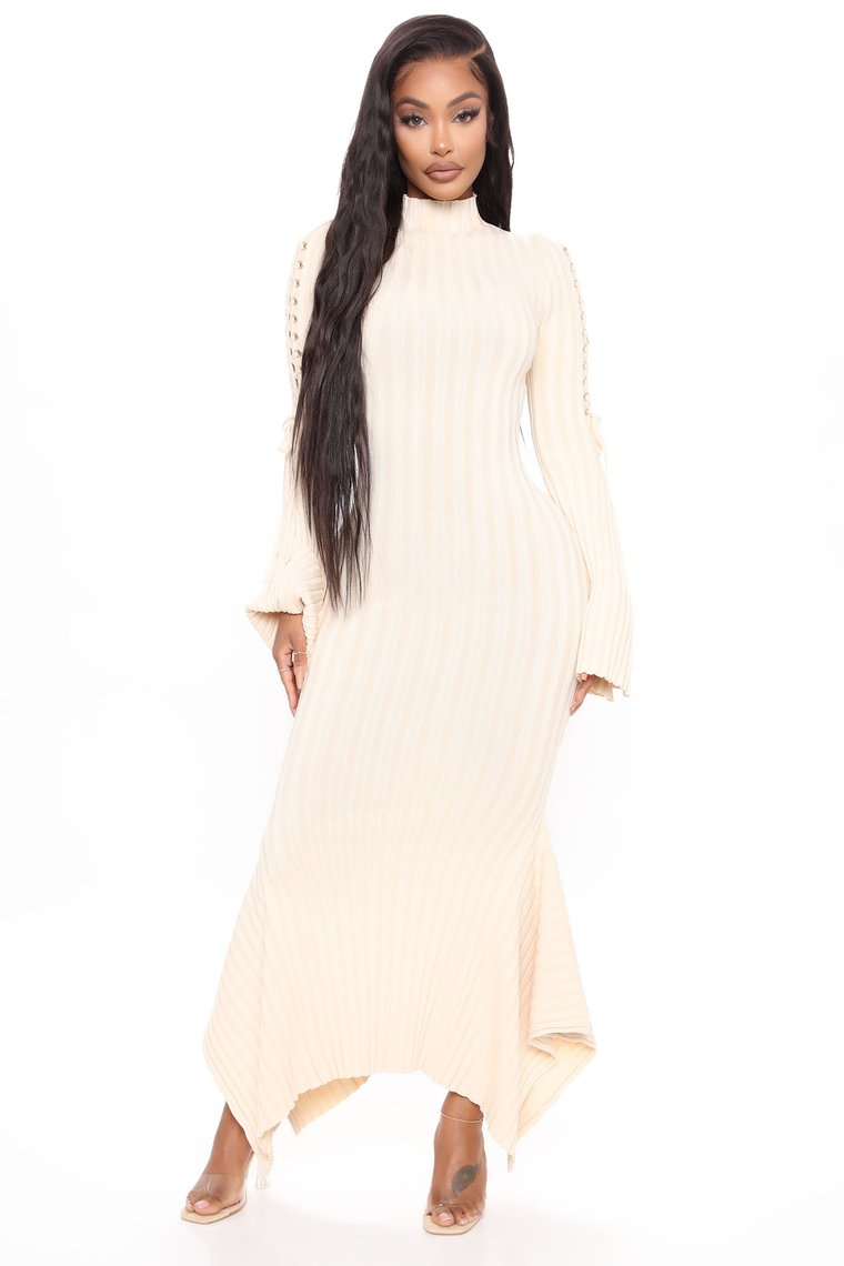 Yvory Long Knit Maxi Dress Knit Mermaid Shape