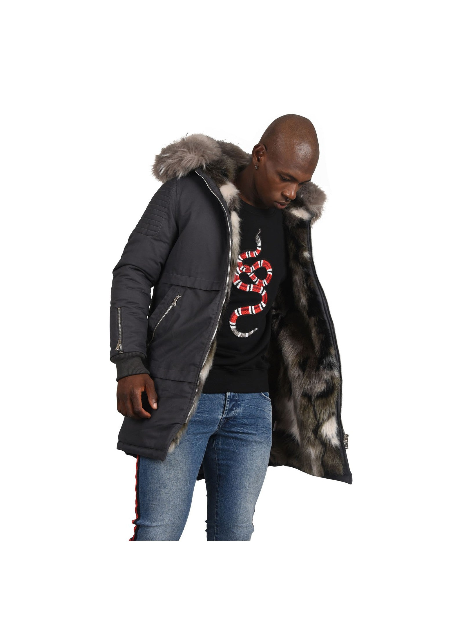 Men's Cotton Parka Grey Jacket Project X Paris