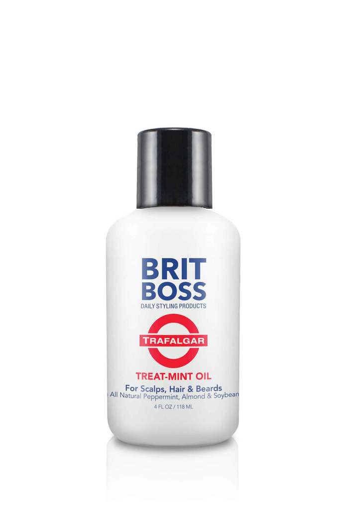 Brit Boss Trafalgar - Treat Mint Oil for Scalps, Hair & Beard - Brit Boss