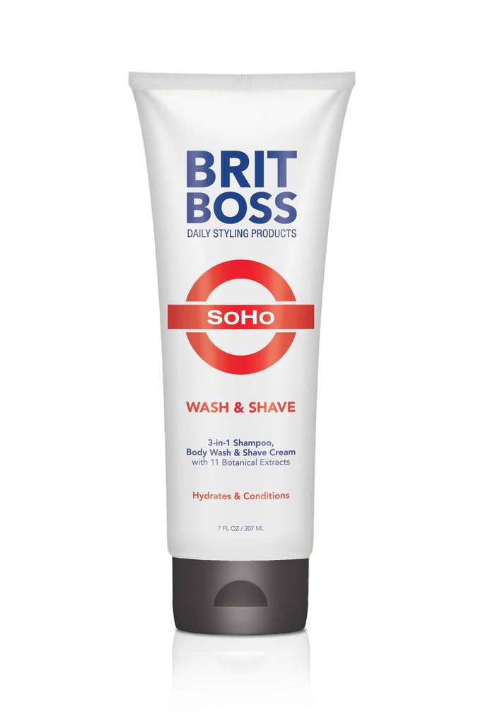 Brit Boss Soho 3-in 1 Shampoo Body Wash & Shave Cream - Brit Boss