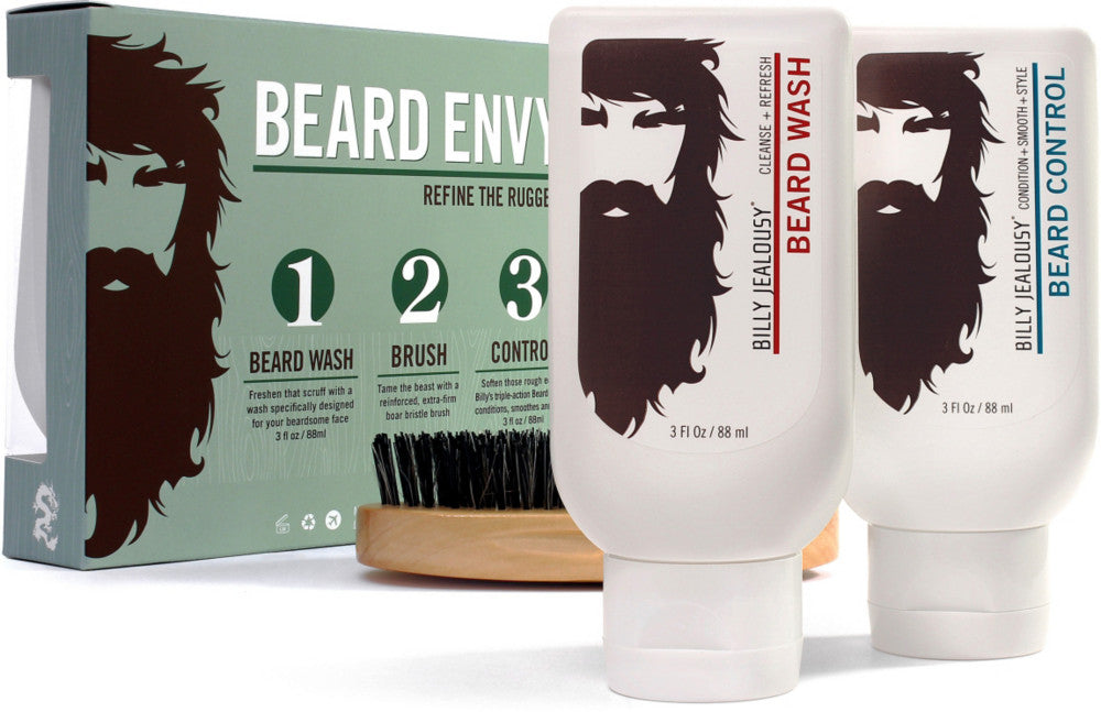 Billy Jealousy Beard Envy Beard Care Trio 88 ml with Brush