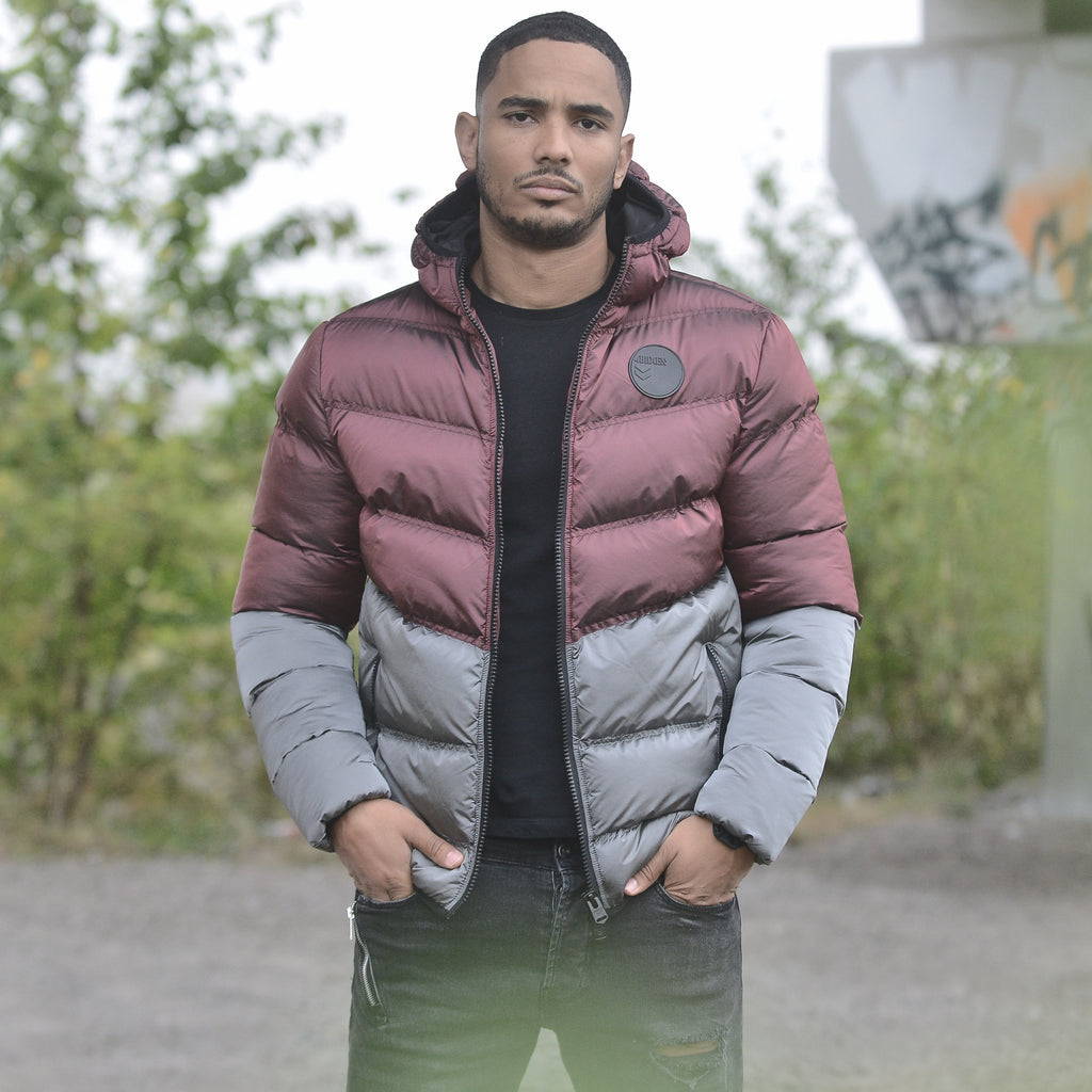 Men's Burgundy Combat Jacket by 4Bidden