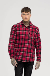 Oversized Red Check Shirt  Buy Good For Nothing available in store USA Fresh Clothing DC Washington DC