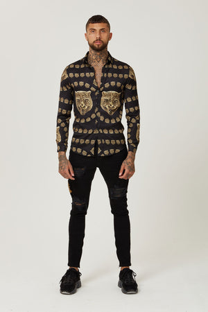 Versace Style Satin Shirt for man