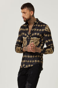 Versace Style Satin Shirt for man Hermano Men Shirts
