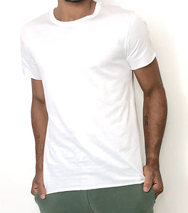 Man Not that Basic T-shirt White - Brit Boss