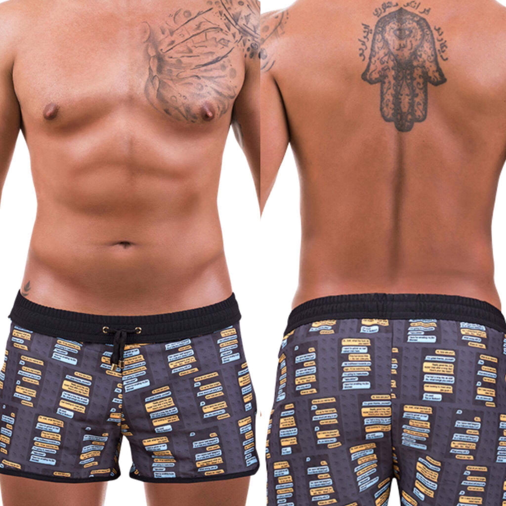 Men Grindr Swim Shorts by Brit Boss - Brit Boss