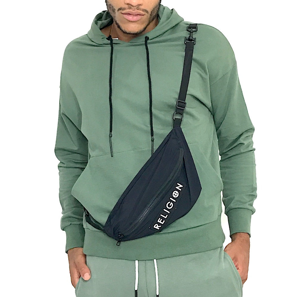 Man Pouch Hoody Army Green by Religion U.K.