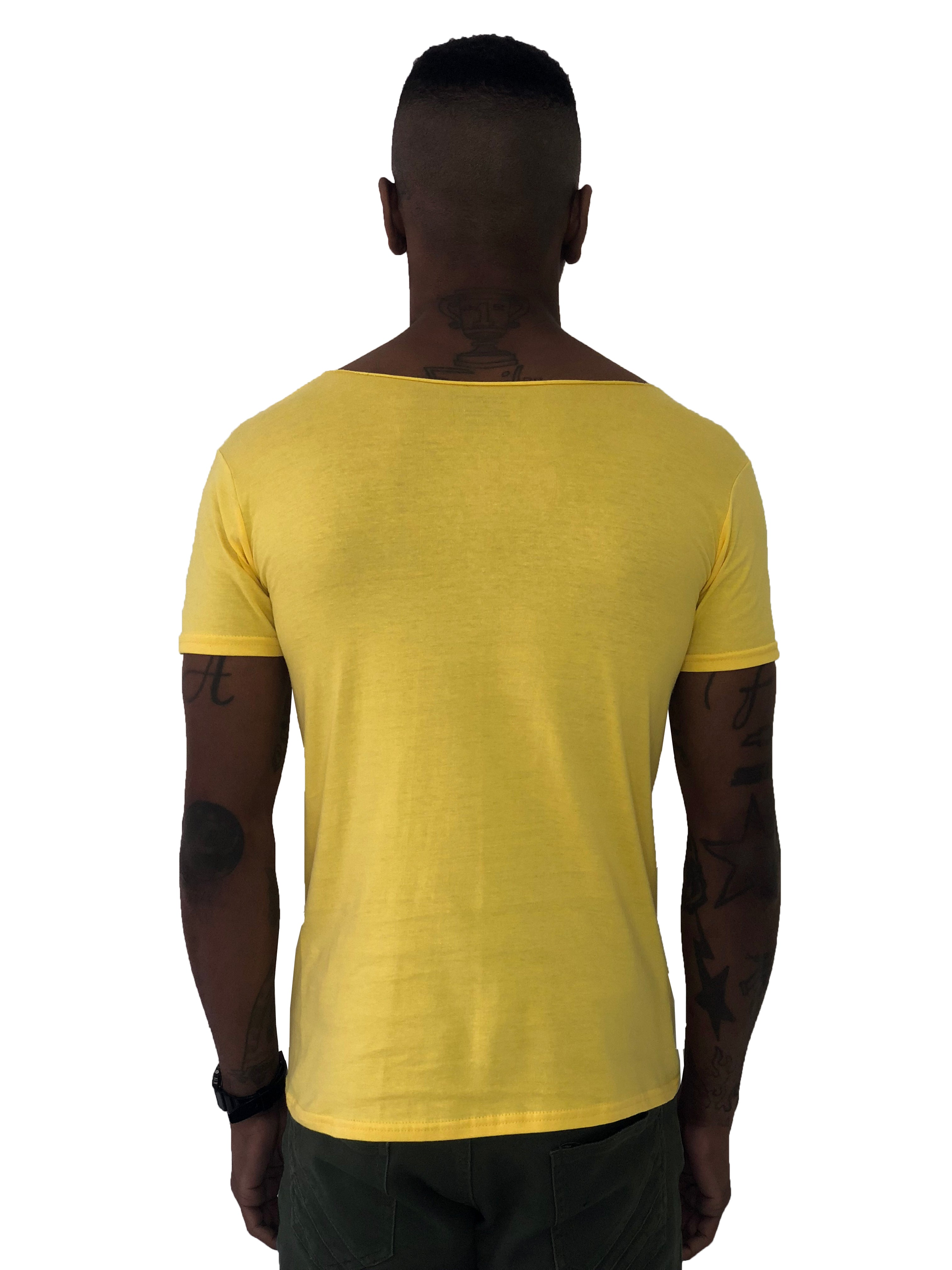 "Men T-Shirt Muscle ""Pinup"" Light Yellow  by iacobuccyounes Italy - Brit Boss"