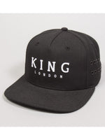 Men Stepney Snapback Black Cap by King London - Brit Boss